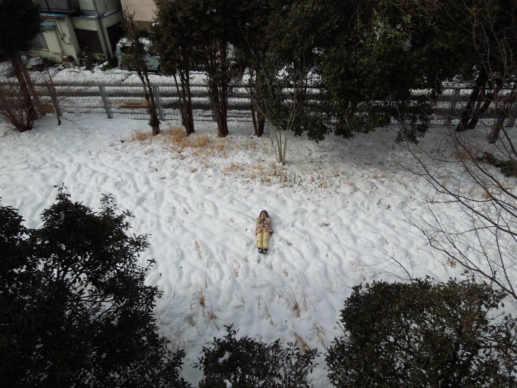 寒い雪の日にかぐや姫