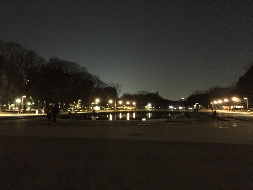 夜の上野公園!ひさしぶりwwwおぉ、我が青春!