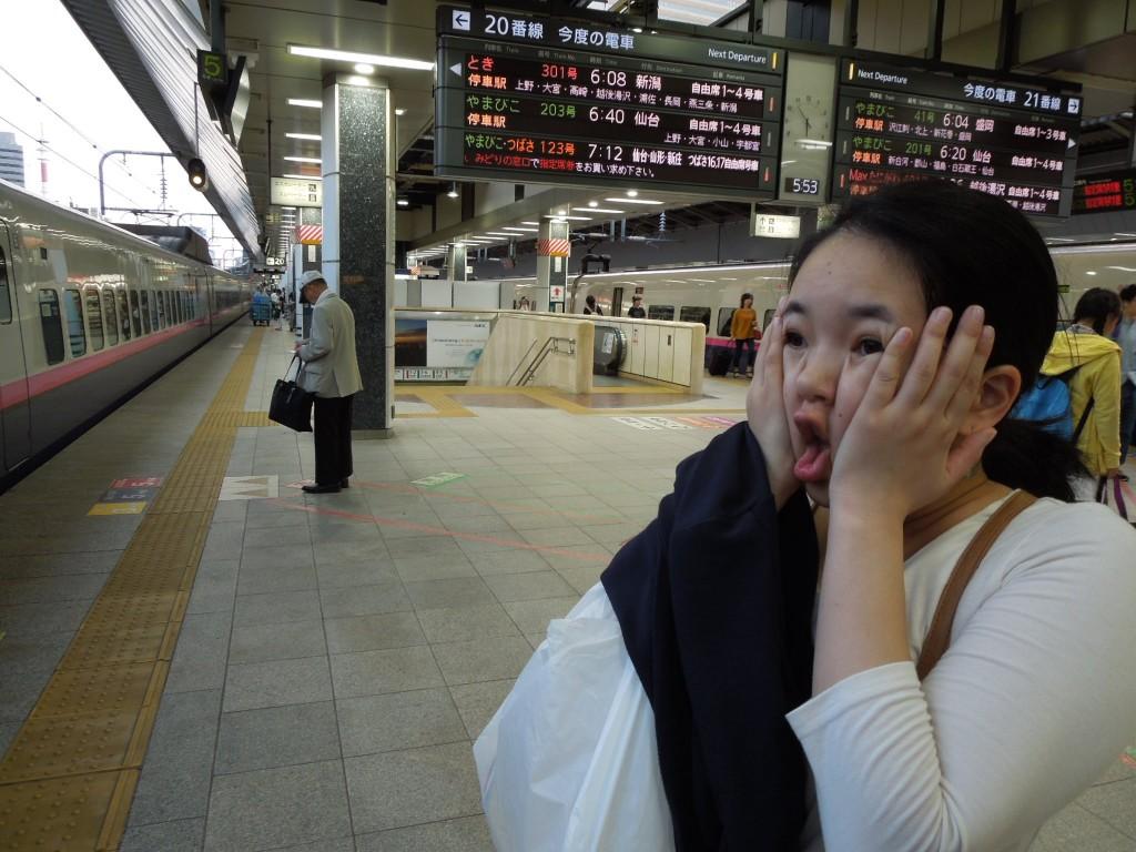 ぶり子さんは新幹線の切符を忘れタクシーで取りに帰りましたw