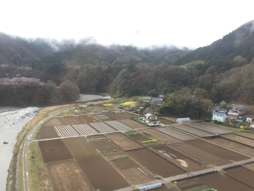 徐々に天気も晴れ、日本画のモチーフのような情景に