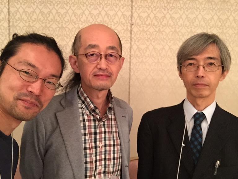 吉岡先生、小田部先生と。